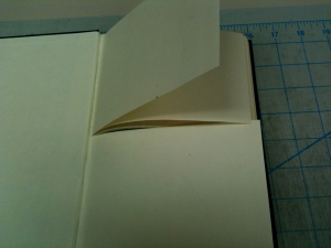 This is how your cut pages should look.  You can also use scissors to cut the pages.